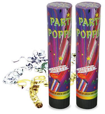 Partypopper Gold Silber Partyknaller Silvesterknaller Tischknaller 123103013 ()