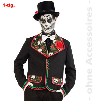 Totenkopf Herrenkostüm Jacke Tag der Toten Jacke Herren - Tag Der Toten Herren Kostüm