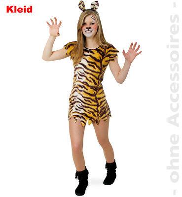 kleid Wild CatRaubkatze Steinzeit Mädchen Teenager Kostüm (Tiger Kostüm Mädchen)