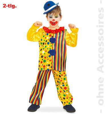 Clown Kostüm Kinder Clownkostüm Narr Spaßmacher Kinderkostüm (Narr Kinder Kostüme)
