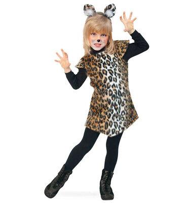 Kinderkostüm-Set Leopard Kleid mit Fellmuster und Haarreif mit Ohren 12978113F