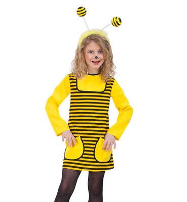 Kinderkostüm-Set Biene Kleid in schwarz-gelb und Haarreif mit Wabbles - Gelb Und Schwarz Kleid Kostüm