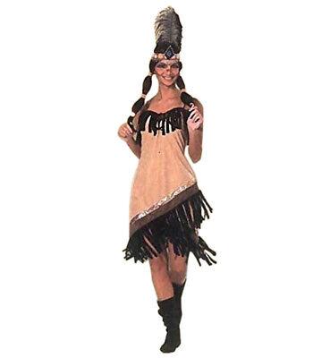 Damenkostüm Sexy Indianerin 1-tlg. Indianerkostüm Karneval Halloween - Indianerin Kostüm