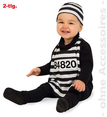 Sträfling Kleinkind Knacki Baby Gefangener Sträflingskostüm Kostüm