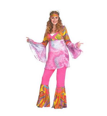 KarnevalsTeufel Hippie-Frau 2. Wahl Oberteil, Schlaghose, Stirnband 12942913