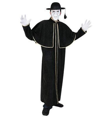 Kostüm Priester in schwarz und Gold mit Cape 12144413F