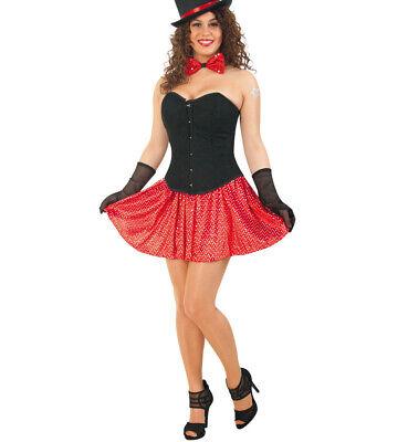 Damenkostüm Set Party Two Corsage und Rock Karneval Fasching (Rock Motto Party Kostüm)