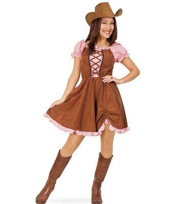 Cowgirl Kostüm Set, 2 TLG. Hut und Kleid - Rosa Cowgirl Kostüme