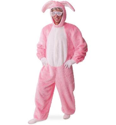 Erwachsenenkostüm Hoppel, Hase Häschen Tiere Kaninchen 1-TLG. Overall 12266813F - Erwachsene Hase