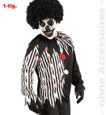 Horror Clown Kostüm Herren Gruselclown Halloween Herrenkostüm