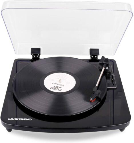 Musitrend Record Player 3-Speed Belt-Drive Turntable Built in Stereo Speaker1107