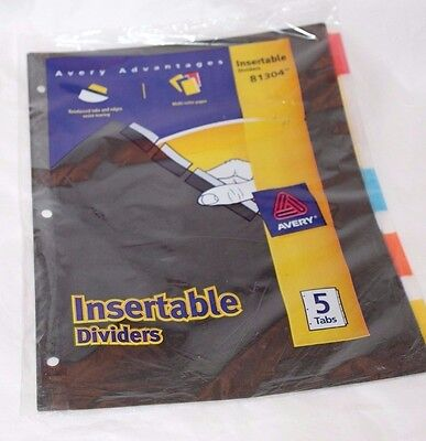 Avery Advantages Insertable Dividers 5 Tabs 81304