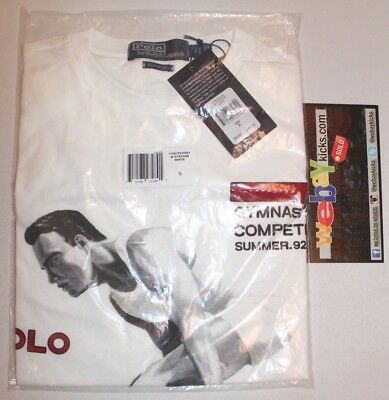 Polo Ralph Lauren Stadium Gymnastics 1992 White S/S Tee Shirt Men's Size SM New
