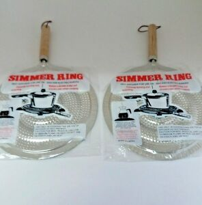 2 Pk Flame Tamer Stovetop Simmer Ring Heat Diffuser Gas Electric Range Whole