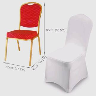 Designer Lycra Spandex Chair Covers and Sash to HIRE OR BUY