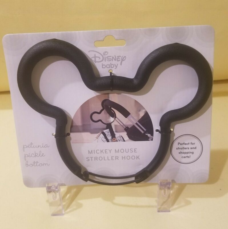 Disney Baby Petunia Pickle Bottom Mickey Mouse Stroller Hook Black NEW