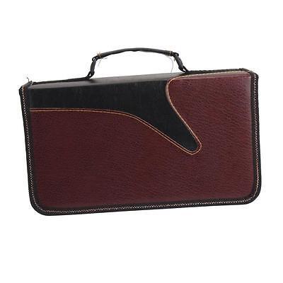 128 Disc CD VCD DVD Storage Bag Organizer Wallet Holder Media Case Box Black Red