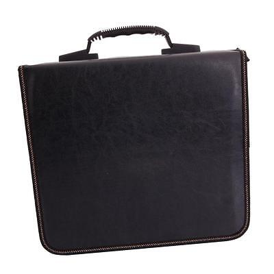 520Disc CD DVD Storage Bag Holder Organizer Media Viedo Case Claret & Black New