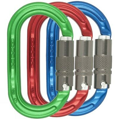 DMM Ultra O Locksafe - Oval Karabiner / Carabiner (3 colour pack)