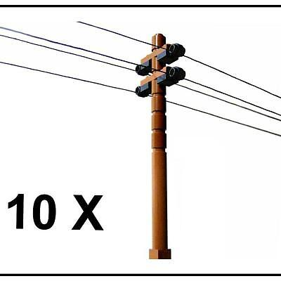 ☆NEW☆ 10 Lego City Train Town Telephone Power Lines Phone Poles 25ft Thread Inc!