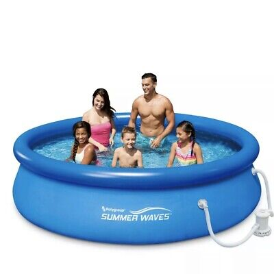 """Summer Waves 10'x30"""" Quick Set Inflatable Pool w/ Filter Pump Compared To Intex"""
