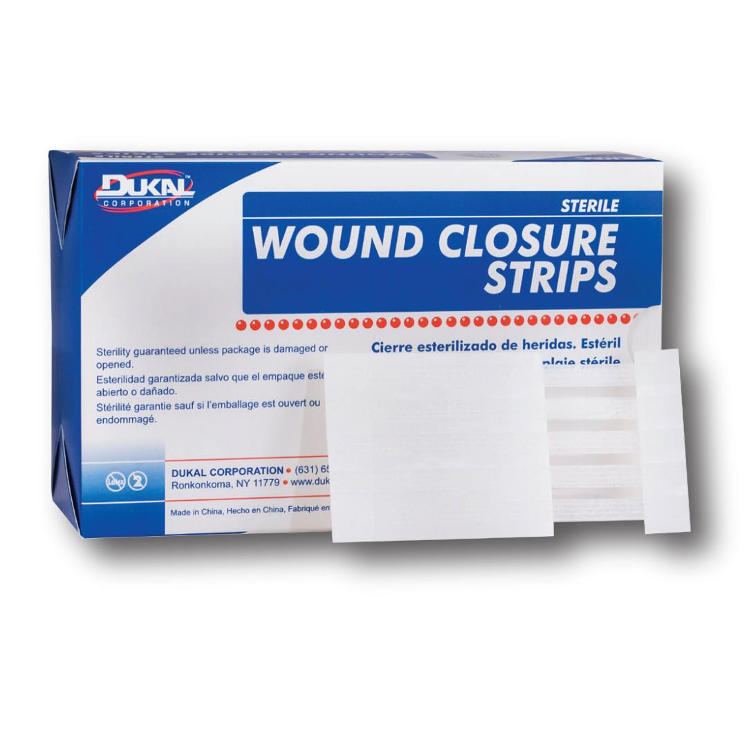 "Wound Closure Strips - 1/8"" x 3"" Dukal - Sterile - 50 Strip"