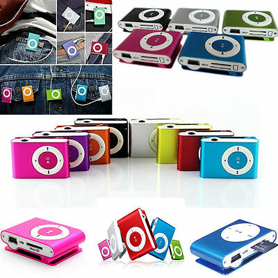 8GB Shuffle MP3 Player & USB Flash Drive Clip Micro SD TF Card & Carry Anywhere
