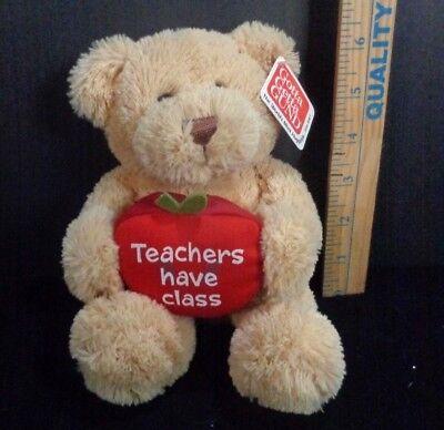 """Teacher's Day Bear Gund Teachers Have Class 8"""" Plush Stuffed Apple Bean Bag NEW"""