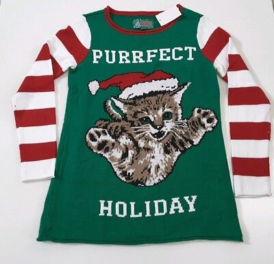 Ugly Christmas Sweater Purrfect Holiday Cat Kitten Size S for sale  Shipping to Canada