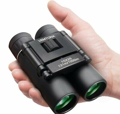 VEMTONA 10x25 Small Mini Compact Binoculars Waterproof Anti-Fog Lightweight