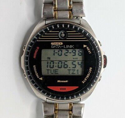 "Unisex Vintage 1997 DIGITAL Watch TIMEX MICROSOFT ""Data Link 150 new battery"