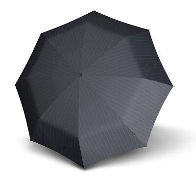 Knirps Umbrella Fiber T3 Duomatic Gents Print Black Stripes