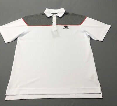 Foot Joy Color Block Pique Golf Shirt Polo (M, White, Striped)(NWT) MSRP $79
