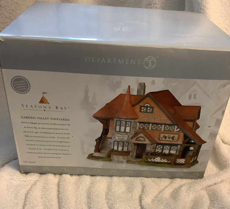 Department 56 Seasons Bay Garden Valley Vineyards #56.53446 25th Anniversary