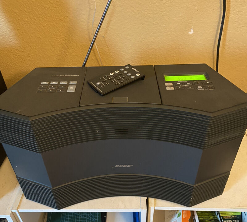 BOSE ACOUSTIC WAVE MUSIC SYSTEM II AM/FM CD PLAYER Works Excellent w/ Remote