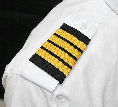 AEROPhoenix Professional Pilot Uniform Epaulets - Four Gold Bars - Captain (Pilot Uniform)
