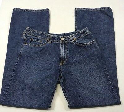 (Lucky Brand Jeans Dungarees Rancher Denim Flare Size 8 29 .     A3)