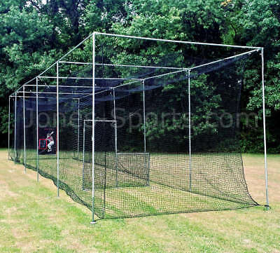 CW Cricket Practice Net Cage Without Roof Pitch Covering Nylon Net