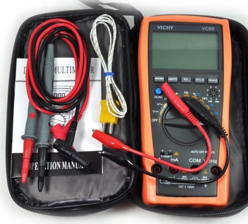 VC99 3 6/7 Auto Range Digital Multimeter Thermomete Capacitance Resistance