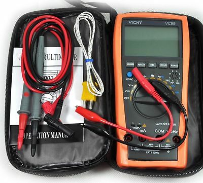 New Vc99 3 67 Auto Range Digital Multimeter Thermomete Capacitance Resistance