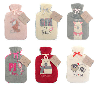 A Novelty Applique Design Hot Water Bottles With Cover