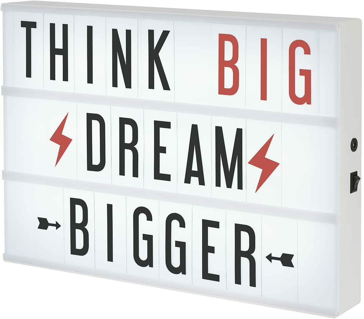 XL Cinema Lightbox - Create Words to Live By – lit sign bo