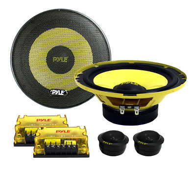 "PYLE PLG6C 6.5"" 400W 2 Way Car Audio Component Speakers Set Power System"