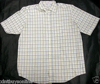 Ecko Unlimited Yellow Brown White Check 100  Cotton  Large