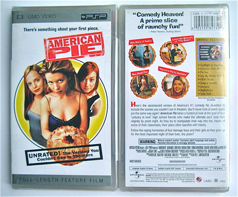 American Pie Unrated Edition UMD For PSP Playstation Portable Movie