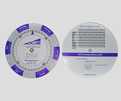 Scheduling Date Finder Wheel With Perpetual Calendar Thru 2038 New