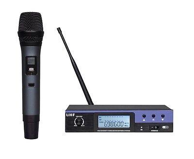 UHF PLL Professional Single Black Handheld Vocal Wireless Microphone System (Pll Handheld System)