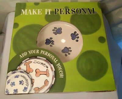 Personalized Dog Food Bowl Magnolia Lane Make it Personal Hand Painted Ceramic