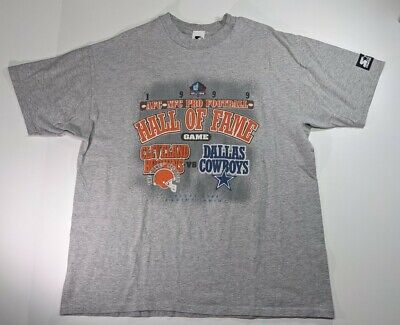 Dallas Cowboys Cleveland Browns 1999 Hall of Fame Game AFC NFC Shirt L/XL image