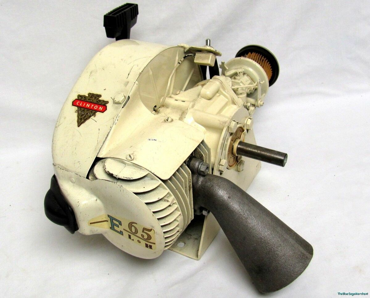 NOS E65 Clinton Tecumseh 2 Cycle Go Kart Type Engine Vintage Motor